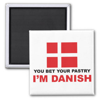 Danish Pastry Square Magnet
