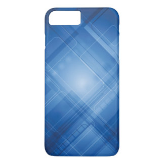Dark blue hi-tech background iPhone 7 plus case