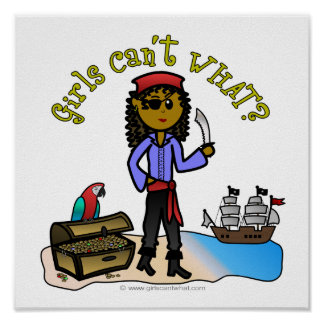 Dark Female Pirate Poster