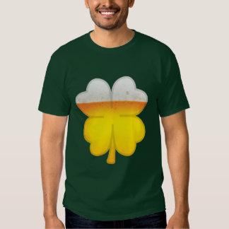 Dark Green Beer Clover Shirt
