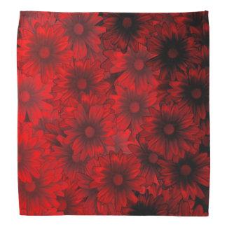 Dark red floral pattern do-rags