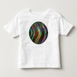 Dark Shiny Holographic Wave Pattern Pixel T-shirt