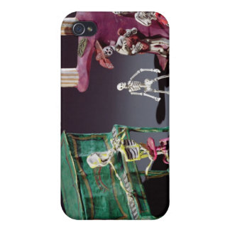 Day of the Dead figures as musicians iPhone 4/4S Case