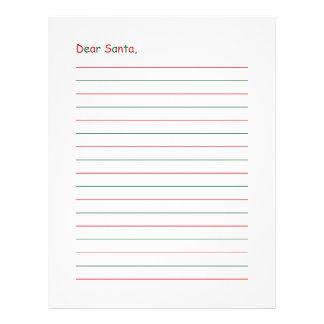 Dear Santa Stationery Custom Letterhead