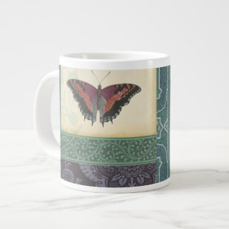 Decorative Butterfly Brocade by Vision Studio Jumbo Mug