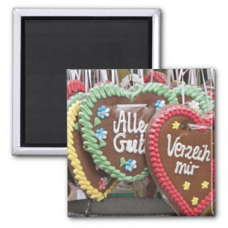 Decorative gingerbread cookies square magnet