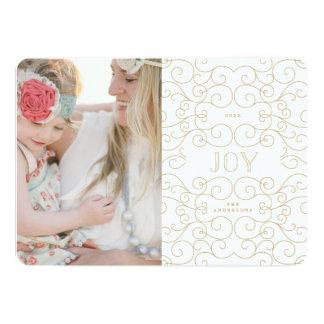 "Delicate Joy | Holiday Photo Card 5"" X 7"" Invitation Card"