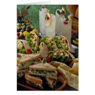 Delicious Lemonade and sandwiches Greeting Card