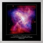 Desiderata quote - Crab Pulsar, Neutron Star Poster