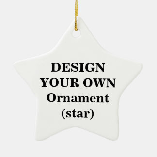 Design Your Own Ornament (star)