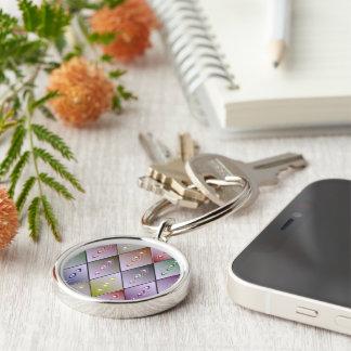 Diamond Quilt Pattern Keychain
