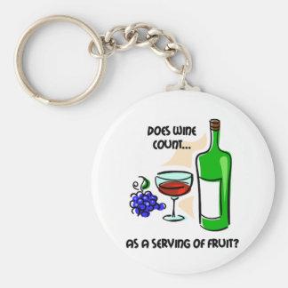 Dire drôle d'humour de vin porte-clé rond