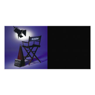 Director's Slate, Chair & Stage Light 2 Photo Card Template