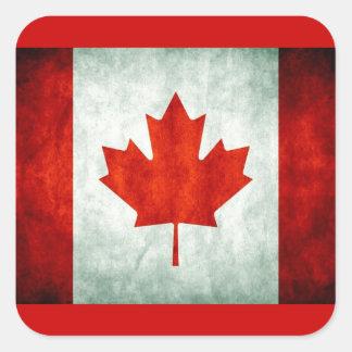 Distressed Canada Flag Square Sticker