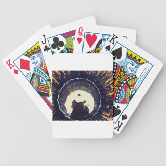 Disturbed waters playing cards