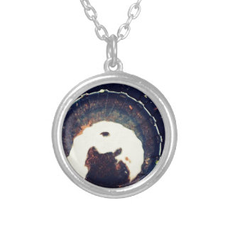 Disturbed waters round pendant necklace