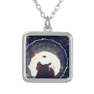 Disturbed waters square pendant necklace