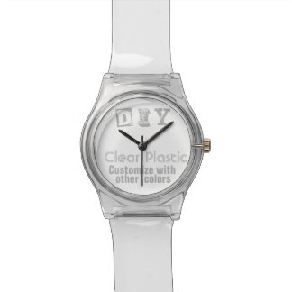DIY - Clear Plastic Watches