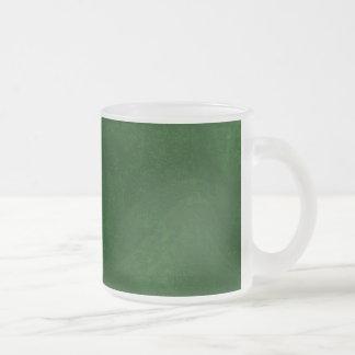 DIY Dark Green Background Custom Home Gift Idea 10 Oz Frosted Glass Coffee Mug