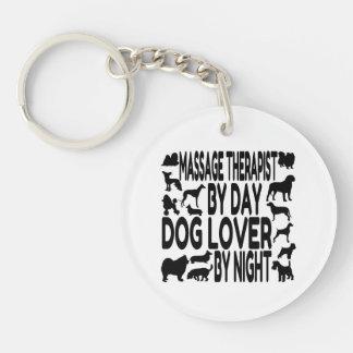 Dog Lover Massage Therapist Double-Sided Round Acrylic Keychain