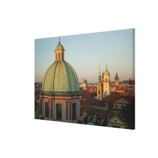 Dome of Church of Saint Francis, Prague, Czech Stretched Canvas Prints
