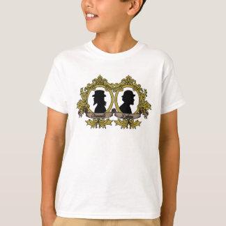 Double T-shirt de camée d'enfants