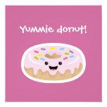 """Doughnut 5.25"""" Square Invitation Card"""