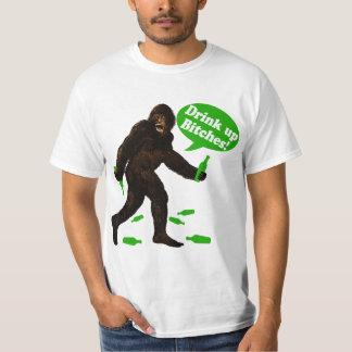 Drink Up Bigfoot St Pattys Day Sasquatch Tee Shirt