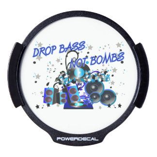 Drop Bass Not Bombs Sub vs War LED Auto Decal