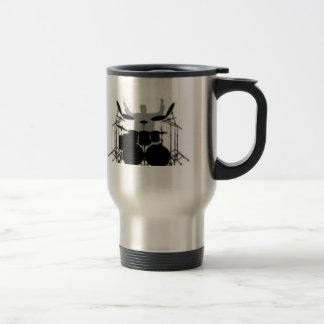 Drummer drink coffee first 15 oz stainless steel travel mug
