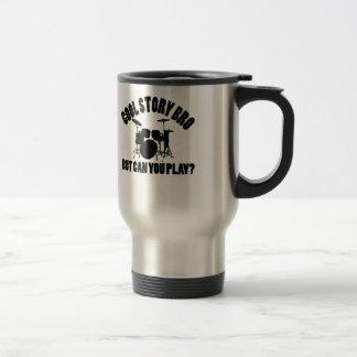 Drums Vector Designs 15 Oz Stainless Steel Travel Mug
