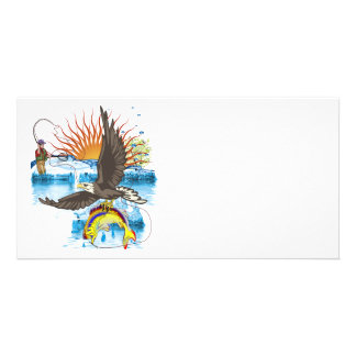Eagle-Thief-3-No-Text Personalized Photo Card