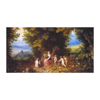 Earth, by Jan Brueghel the Elder Stretched Canvas Print