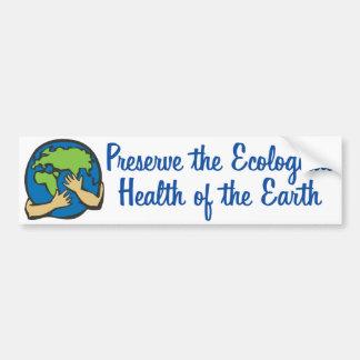 Earth Day Preserve Bumper Sticker