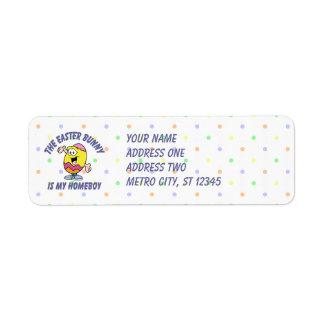 Easter Bunny Homeboy Return Address Label