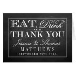 Eat, Drink & Be Married Chalkboard Wedding Note Card