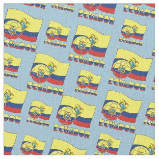 Ecuadorian Soccer Ball and Flag Fabric