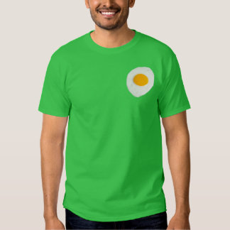 Egg stitched to a shirt