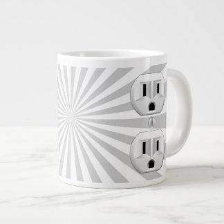 Electric Plug Wall Outlet Fun Customize This! Jumbo Mug