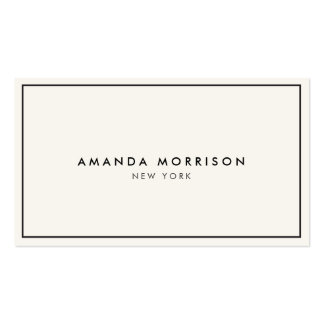 Elegant and Refined Luxury Boutique Black/Ivory II Business Card