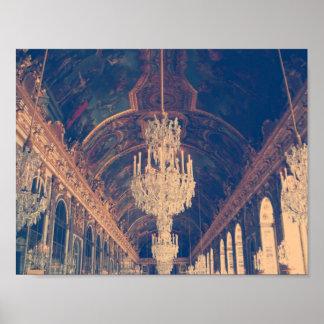 Elegant and vintage chandelier poster