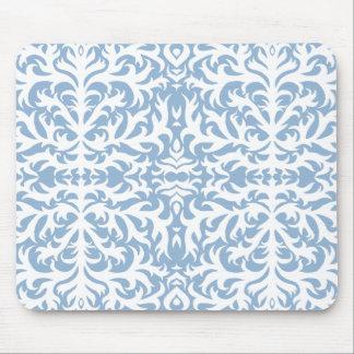 Elegant Blue Damask Mousepad