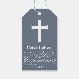 Elegant First Communion Party Favor Labels|Tags Pack Of Gift Tags