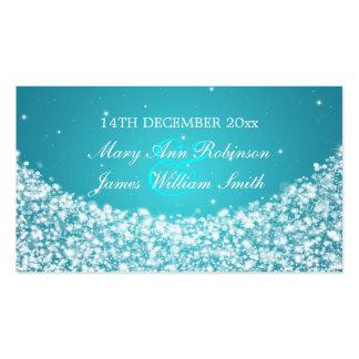 Elegant Wedding Favor Tag Star Sparkle Blue Business Card
