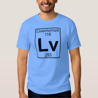 Element 116 - Lv - Livermorium (Full) Tee Shirt