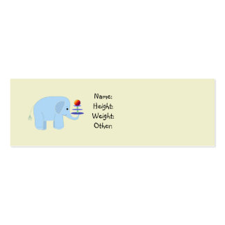 Elephant Baby Announcement Mini Business Card