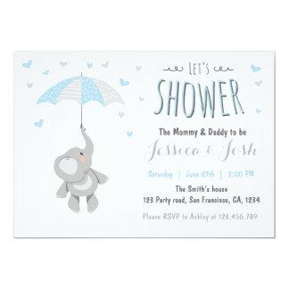 Elephant Little Peanut Baby Shower Invitation