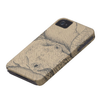 Elephant Texture Touch iPhone 4 Case-Mate Case