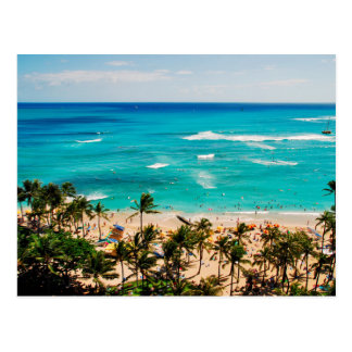 Elevated View Of Waikiki Beach Scene, Honolulu 2 Postcard