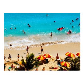 Elevated View Of Waikiki Beach Scene, Honolulu Postcard
